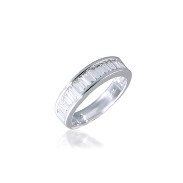 Channel-set Baguette Diamond Band