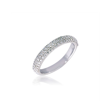 Classic Round Diamond Pave Band