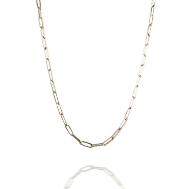 Classic 18 Inch Paperclip Necklace