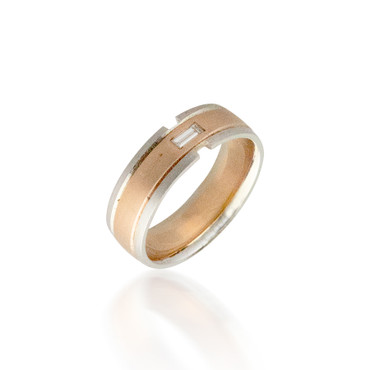 Two Toned Wedding Band