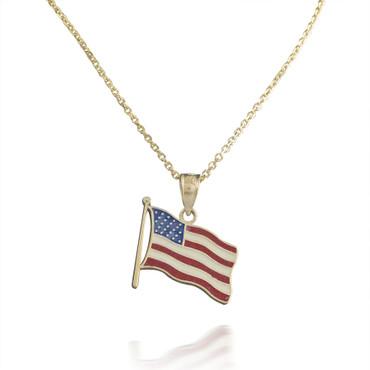 American Flag Pendant