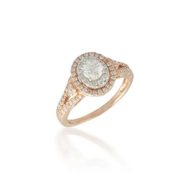 Double Diamond Halo Ring
