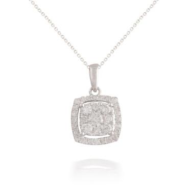 Diamond Square Shaped Pendant