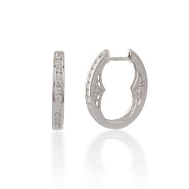 Diamond Filagri Hoop Earring