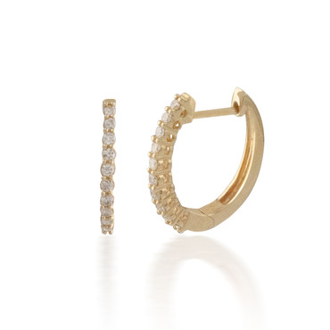 0.25ct Diamond Hoop Earring