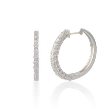 1.00ct Classic Round Diamond Hoop Earring