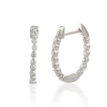 0.50 Classic Inside-out Diamond Hoop Earring