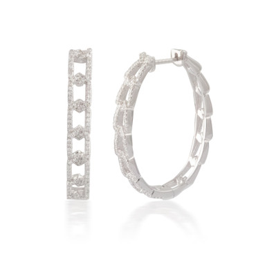 0.50ct Diamond Link Hoop Earring