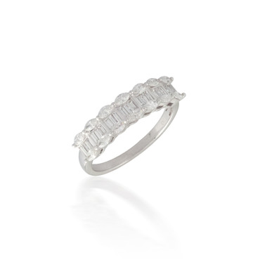 Baguette and Marquise Diamond Band