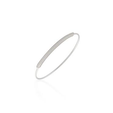 0.80ctw Diamond Pave Bangle Bracelet