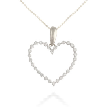 0.48ct Diamond Heart Pendant