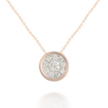 0.15ct Pear Diamond Cluster Pendant