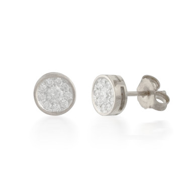 0.33ct Round Diamond Cluster Stud Earrings
