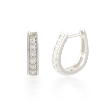 0.13ctw Diamond Hoop Earring