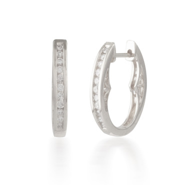 0.25ctw Diamond Filigree Hoop Earring
