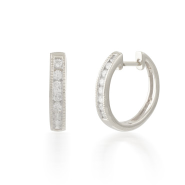 0.25ctw Diamond  Hoop Earring