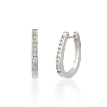 0.33ctw Diamond Hoop Earrings