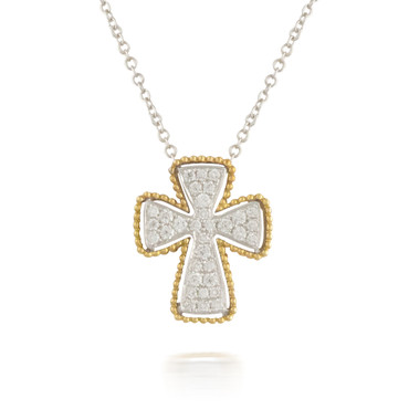 0.36ct Thick Diamond Cross Pendant