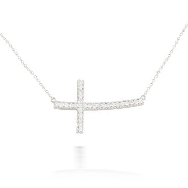 0.37ct Lateral Diamond Cross Pendant