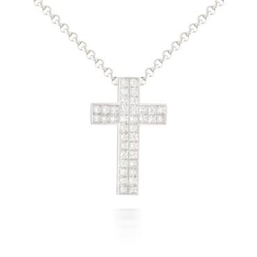 2.11ct Diamond Cross Pendant