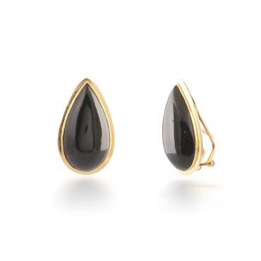 Pear Onyx Earrings