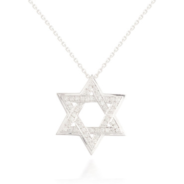 0.40ctw Diamond Star of David Pendant