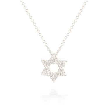 0.10ctw Diamond Star of David Pendant