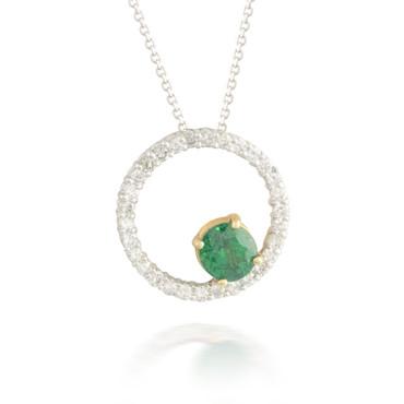 1.25ct Tsavorite Garnet and Diamond Pendant