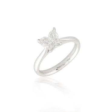 Butterfly Cluster Diamond Ring