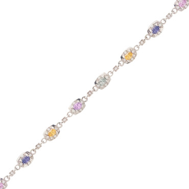 Diamond and Rainbow Sapphire Bracelet