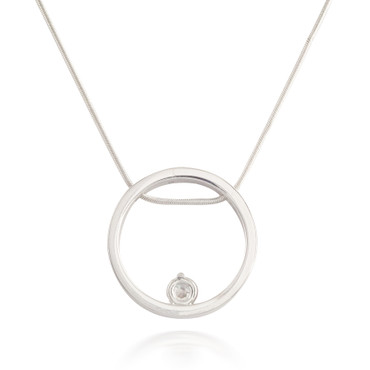 1.17ctw Diamond Circle Pendant