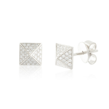 0.19ctw Diamond Square Stud Earrings