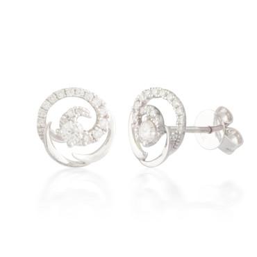 0.33ctw Diamond Swirl Stud Earrings