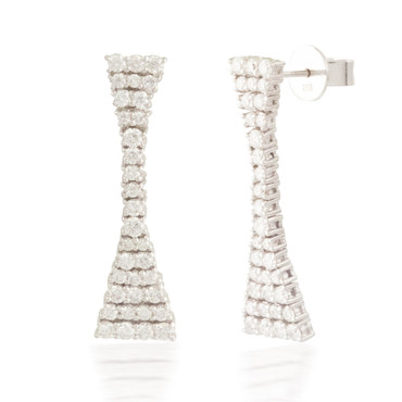 1.72ctw Flexable Diamond Stud Earrings