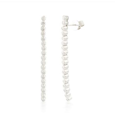 0.70ctw Flexable Diamond Stud Earrings