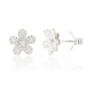 0.55ctw Diamond Flower Cluster Earrings
