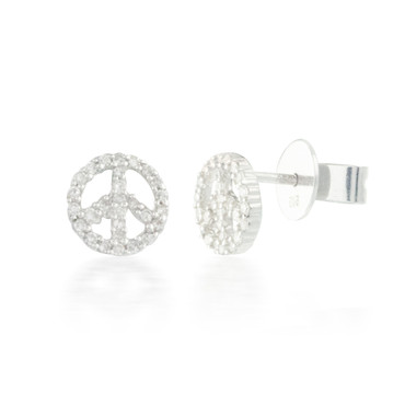 0.22ctw Diamond Peace Earrings