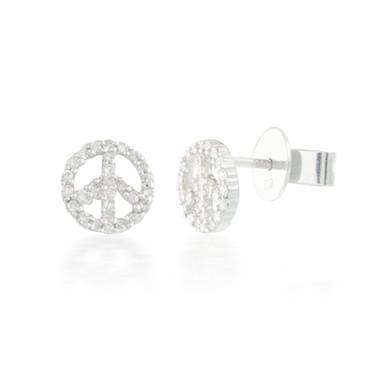 0.22ctw Diamond Peace Earrings
