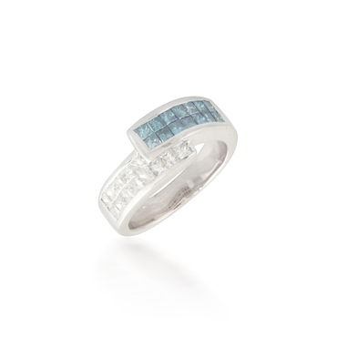 Bypass Blue and White Diamond Band