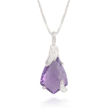 4.03ct Amethyst and Diamond Pendant