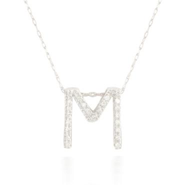 Large Diamond Single Letter Pendant