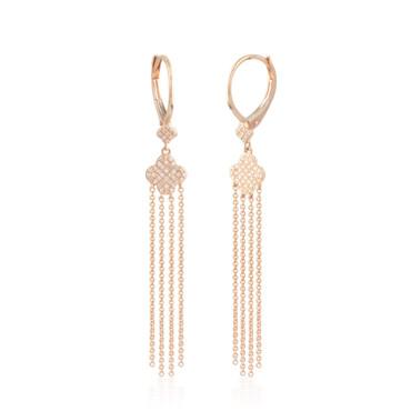 0.20ctw Diamond Dangling Hoop Earrings