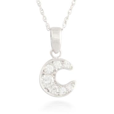 0.39ctw Diamond Moon Pendant