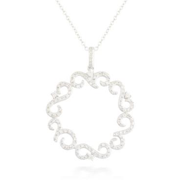 0.50ctw Diamond Circle Pendant