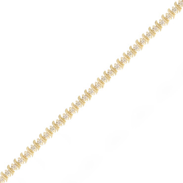 3.56ctw Slink Diamond Tennis Bracelet