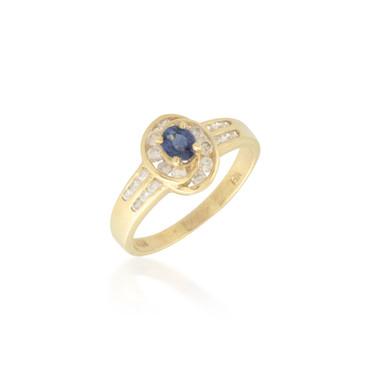 Swirling Sapphire and Diamond Ring