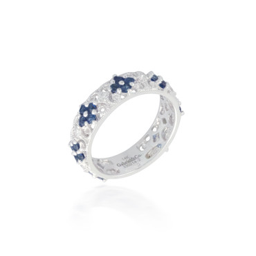 Intricate Sapphire and Diamond Band