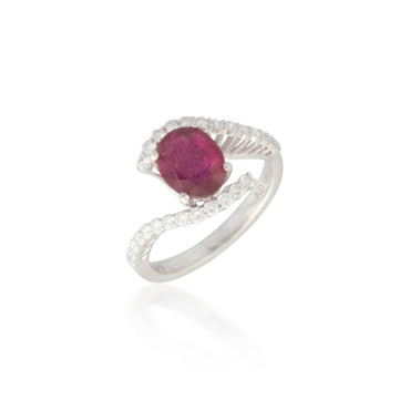 Swirling Ruby and Diamond Ring 2