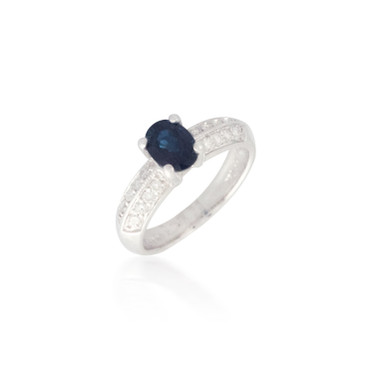 Oval Sapphire and Diamond Ring 2