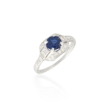 Intriguing Sapphire and Diamond Ring